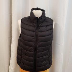 Womens Puffy Jacket Vest Black L